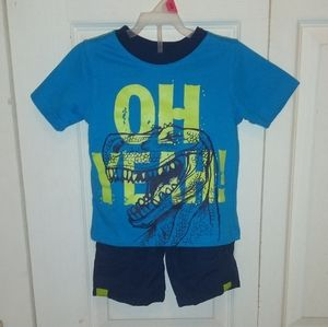 Boys T-Rex Shirt w/ Matching Shorts